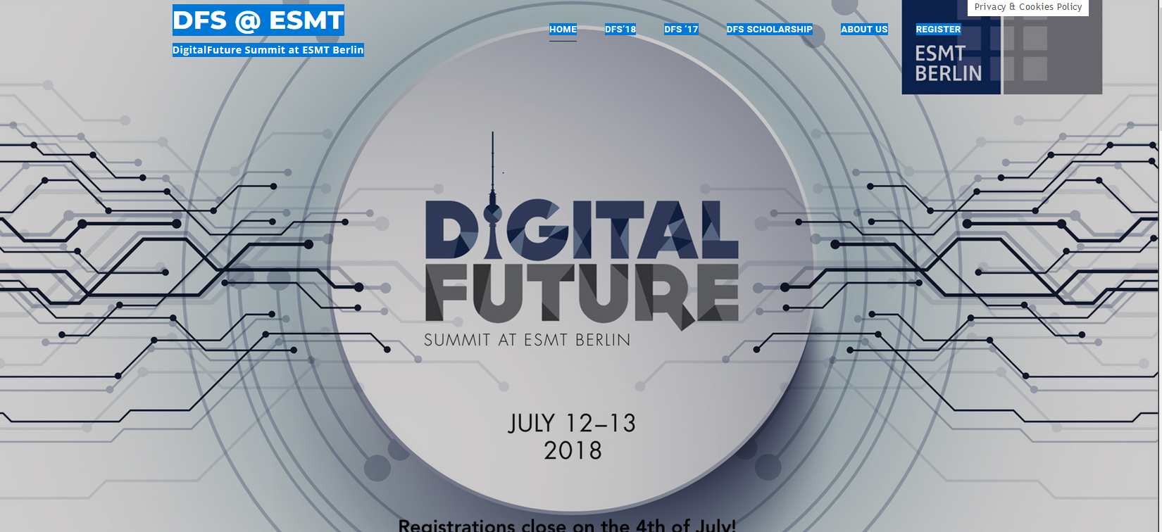 Digital Future Summit website image